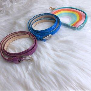 Belt girls bundle of 2 purple and blue.